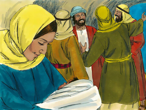 The shepherds told everyone what the angel had said to them about this child. All who heard the shepherds' story were astonished. Mary quietly treasured these things in her heart and often thought about them. – Slide 8