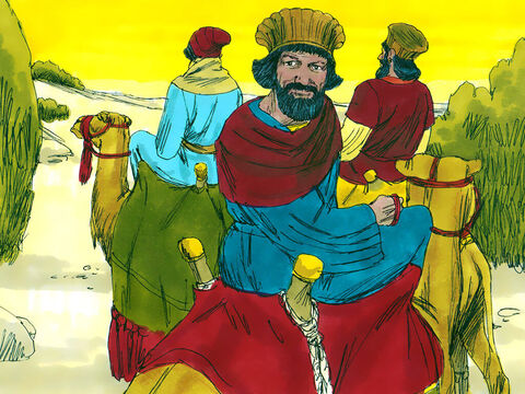 Then God spoke to the Wise Men in a dream telling them not to go back to Herod. So they went to their own country by another road. – Slide 9