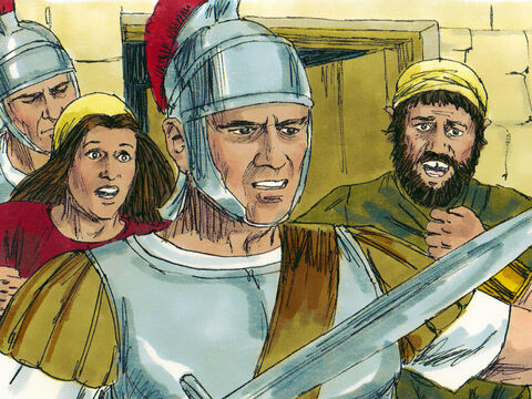 When Herod found out the Wise Men had returned without reporting to him he was furious. He sent men to kill all the young boys two years old and under who lived in Bethlehem and the surrounding area. – Slide 12