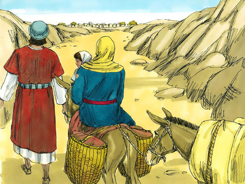 When they returned to their land, God told Joseph in a dream to go to the area of Galilee and live in the town of Nazareth. It had been prophecied many years before, that the Saviour would be called a Nazarene. – Slide 14