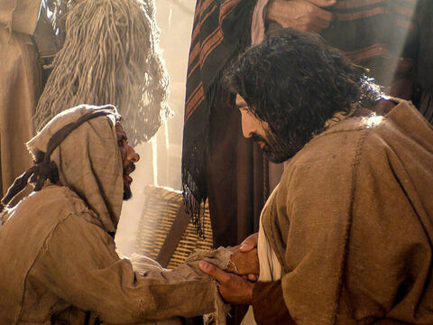 The blind and lame came to Jesus and He healed them. – Slide 11