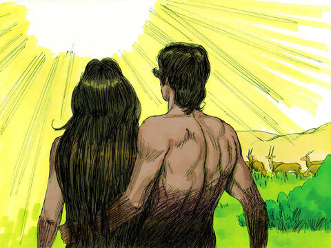 Now although the man and his wife were both naked, neither of them was embarrassed or ashamed. – Slide 21
