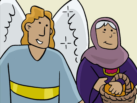 The angel Gabriel said, 'Remember your cousin, Elizabeth? Though she is old and has never had any children, she is now six months pregnant. This might seem impossible, but there is nothing that God cannot do!' – Slide 6