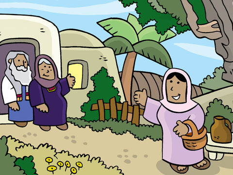 After Mary told her cousin about the baby God had promised to her, they both gave thanks to God and sang praises to Him. Mary stayed three months with her cousin and then returned to her home. – Slide 13