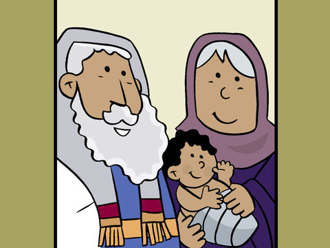 But Zechariah surprised them, and wrote that the baby would be named John, not Zechariah. At that moment Zechariah was able to speak again, and he started praising God. – Slide 15