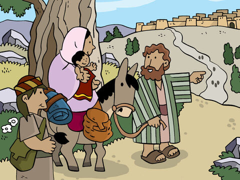 Forty days after the birth of Jesus, Joseph took Mary to Jerusalem to perform the ceremony of purification, which was required in those days by the Book of the Law. – Slide 1