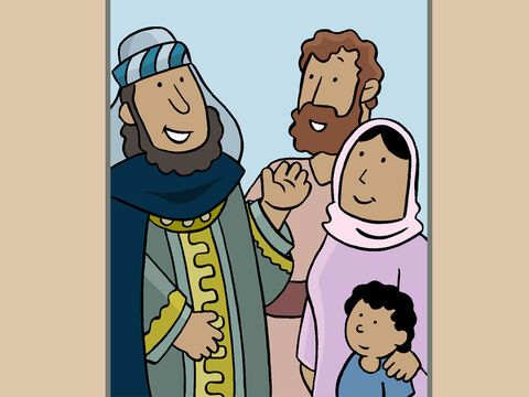 Then they explained why they were in Bethlehem. <br/>'We have come on a long journey, from far away in the East. We are scholars and astronomers known as Wise Men or Magi.' – Slide 6