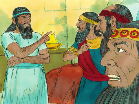 'No' replied Nebuchadnezzar. 'You must tell me what I dreamt and then tell me the meaning.' The astrologers begged, 'Please, Your Majesty. Tell us the dream, and we will tell you what it means.' – Slide 4