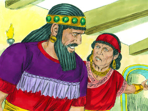 The queen mother heard what was happening and hurried to the banquet hall. 'There is a man who has divine knowledge. In Nebuchadnezzar's reign, a Jew called Daniel was found to have understanding, and wisdom. He can interpret dreams, explain riddles, and solve difficult problems. Call for Daniel, and he will tell you what the writing means.' – Slide 8