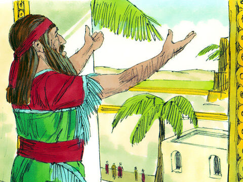 Daniel was a Jew in Babylon when the Medes and Persians took control of the land. Each day Daniel would pray facing towards Jerusalem in his own homeland. – Slide 1