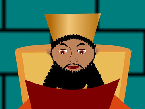 Now the King made rules that everybody had to obey. If anyone disobeyed the King's rules something very bad could happen to them. – Slide 6
