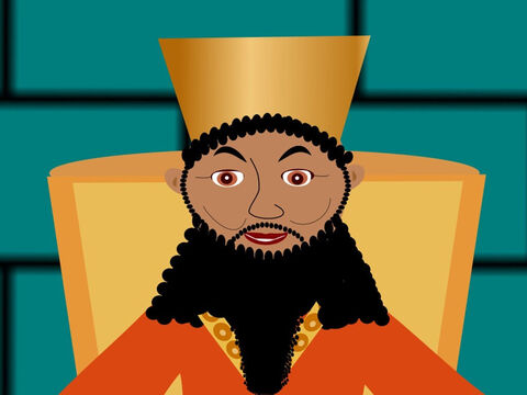 The king loved the new rule and he ordered it to be read out to everyone who lived in Babylon. – Slide 8