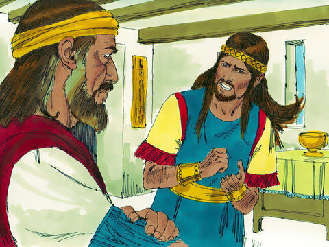 (2 Samuel 13 and 14). David had several sons by different wives. Absalom was his third oldest son. David's oldest son was called Amnon. – Slide 1