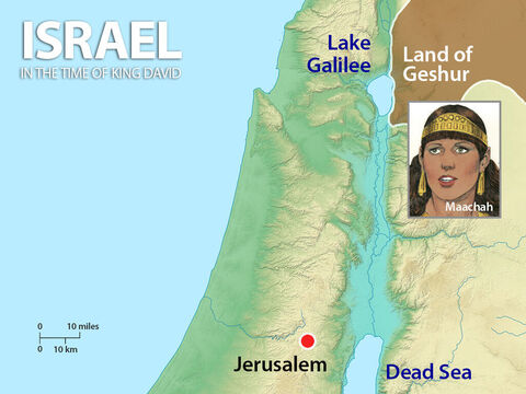 Absalom's mother was the daughter of the King of Geshur. Absalom also had a sister called Tamar. There was big trouble in the family when Amnon raped Tamar. When Absalom found out what had happened to his sister he plotted revenge. – Slide 2