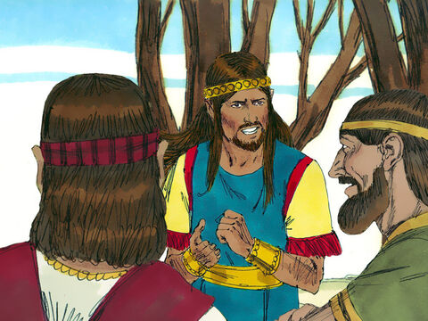 When Absalom arrived in Jerusalem he wondered what to do next. David's former advisor Ahithophel urged him to pursue David while he was weary and discouraged. However David had left a loyal advisor called Hushai in Jerusalem to give Absalom poor advice. Hushai told Absalom not to pursue David immediately as he was a great fighter and there were mighty warriors with him. Absalom listened to Hushai's advice and David had time to make his escape. Ahithophel, publically shamed when Absalom didn't listen to him, returned to his home town and killed himself. – Slide 17