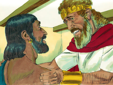 'What of young Absalom?' the king demanded. 'Is he all right?''May all of your enemies be as that young man is!' the messenger replied. – Slide 23