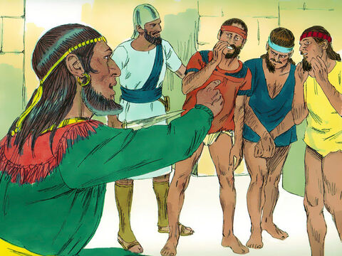 So King Hanun humiliated King David's envoys by shaving off half of each man's beard and cutting off their garments just below the waist. – Slide 4