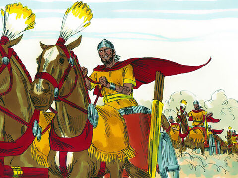 Their army gathered at Helam on the border of David's Kingdom. King David assembled all his soldiers and headed for Helam to do battle with them. – Slide 12