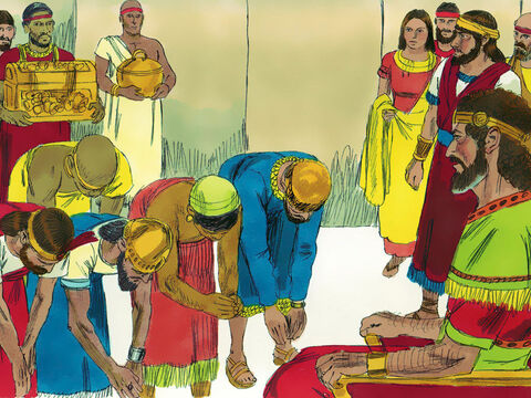 When all the Kings of the Arameans saw they were defeated they made peace with the Israelites and became subject to them. They no longer fought for the Ammonites against Israel. – Slide 14