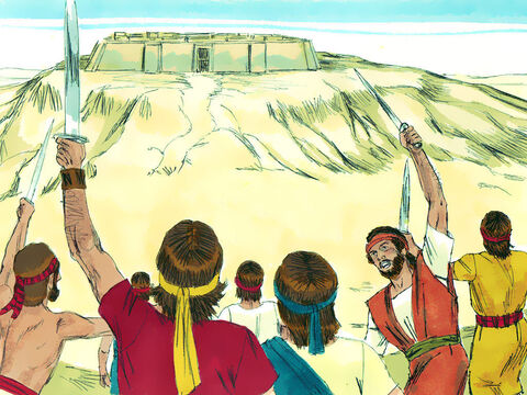 Jerusalem, on Mount Zion, had a fortress that was so well defended the Jebusites boasted, 'You will not get in here, even the blind and the lame can ward you off.' – Slide 3