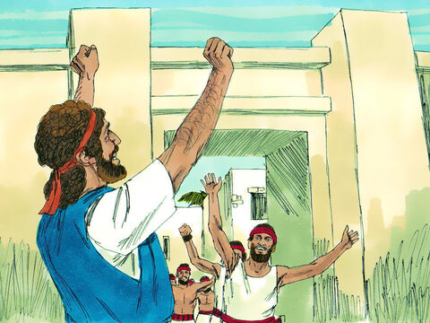 Nevertheless, David captured the fortress of Zionand made Jerusalem the 'City of David'. He started developing the land around the fortress and the Lord was with him in all he did. – Slide 4