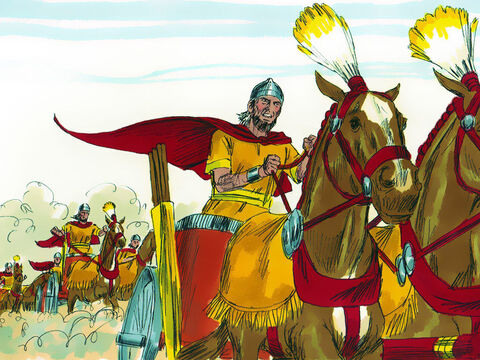 In the spring, David sent his army under the command of Joab to lay siege to the Ammonite city of Rabbah. David chose to stay at home in Jerusalem. – Slide 1
