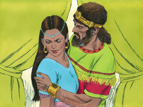 David sent messengers to get Bathsheba. When she arrived he seduced her and slept with her. Bathsheba then returned home. – Slide 3