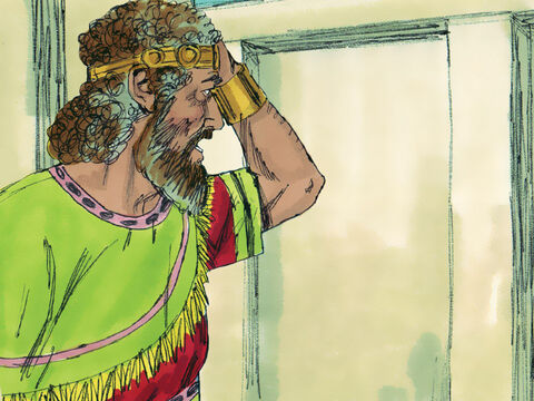 A while later Bathsheba got a message to David saying, 'I am pregnant.' – Slide 4