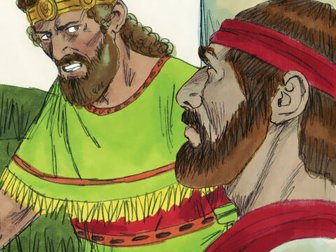 The next day David found out that Uriah had not spent the night with Bathsheba. So that day he got him drunk. But again Uriah did not return home but slept on a mat by the palace entrance. David's plan had failed. Uriah returned to the siege of Rabbah. – Slide 7