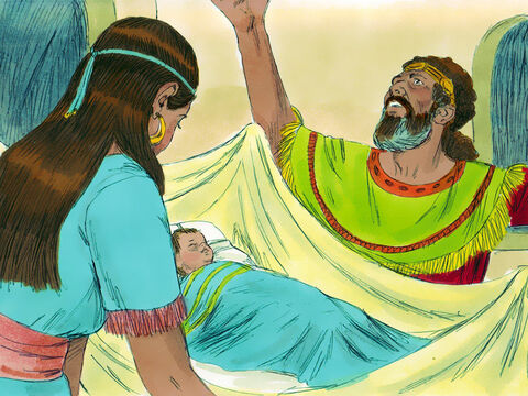 After Nathan had gone home, the child born to Bathsheba and David became ill.  David pleaded with God to spare the child. He fasted and spent the nights lying in sackcloth on the ground.  – Slide 17