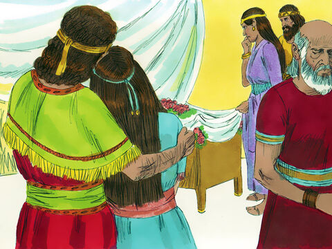 Seven days later the child died. David was told the sad news. He stopped fasting and praying then he went in to see the child and comfort his wife. – Slide 18