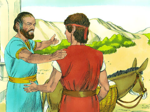 One day Jesse said to David, 'Take this roasted grain and these ten loaves of bread to your brothers in the camp. And take these ten cheeses to the commanding officer. Find out how your brothers are getting along.' – Slide 8