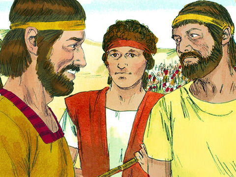 David asked, 'Who is this Philistine to defy the army of the living God?' They told him the man who killed Goliath would get a big reward, marry the King's daughter and his father's family would not need to pay taxes. – Slide 10