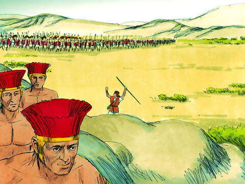 The men of Israelites shouted and ran after them, pursuing them all the way to Gath and Ekron in Philistine territory. – Slide 19