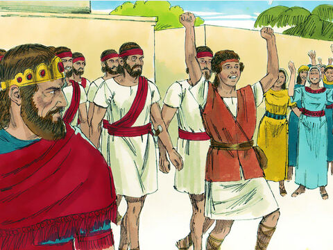 After David killed Goliath he returned as a hero and King Saul became very angry and jealous of him. – Slide 3