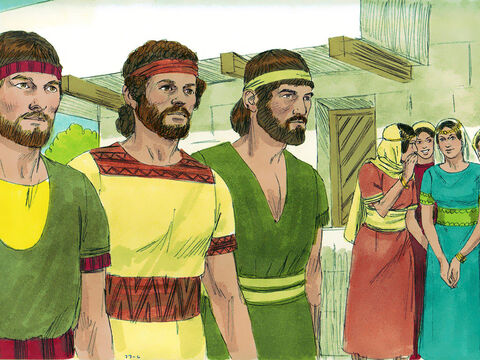 Now Saul's daughter Michal was in love with David, and when they told Saul about it, he was pleased. – Slide 6