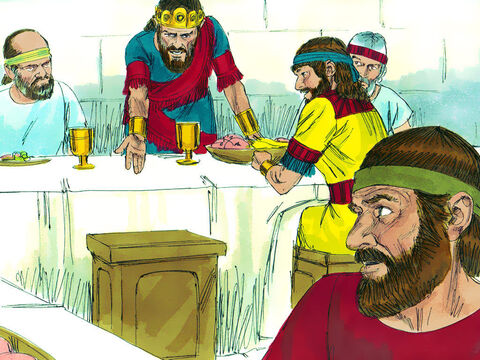 But the next day when David's place at the table was still empty Saul asked, 'Why isn't David here?' – Slide 16
