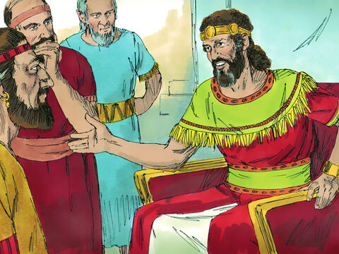 David asked his advisors, 'Is there anyone belonging to Saul's family to whom I can show kindness for Jonathan's sake?' A servant of Saul, called Ziba, was summoned. – Slide 2
