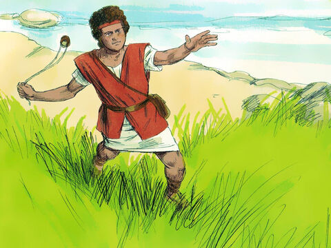 David is well known as the young man who overcame the giant Goliath with a stone from his sling. He was also a talented musician and songwriter. – Slide 1