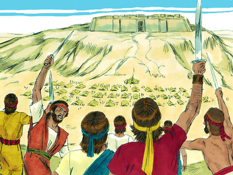 The Lord answered, 'Go, attack the Philistines and save Keilah.' David and his men inflicted heavy losses on the Philistines and saved the people of Keilah. – Slide 3