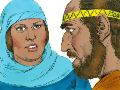 Barak replied, 'I will go, but only if you go with me.''Very well,' Deborah replied, 'I will go with you. But you will receive no honour in this venture, for the Lord'svictory over Sisera will be at the hands of a woman.' – Slide 11