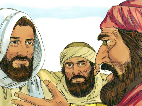'Jesus of Nazareth was handed over by the Chief Priests to be sentenced to death and they crucified Him,' the disciples explained. 'We hoped he would save us.' – Slide 6