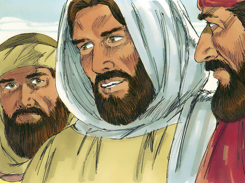 Then the stranger explained how first Moses then other prophets had written down that the Saviour of the world would die and rise from the dead. – Slide 9
