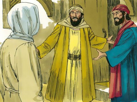 As they approached Emmaus the stranger looked as if He was travelling on further. They invited Him to stay with them and He agreed. – Slide 10