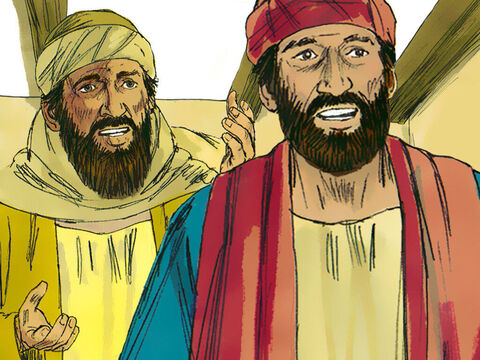 At that moment Jesus disappeared from their sight. 'Weren't our hearts warmed as He spoke to us and explained what is written about the Saviour?' they exclaimed. – Slide 12
