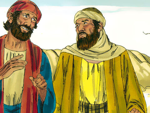 They got up and rushed back to Jerusalem at once. – Slide 13