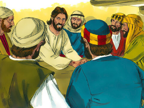 Jesus opened their minds so they could understand from the scriptures that it had been written He would suffer and die then rise from the dead. He told them they would tell others this good news and urge people to turn to God and be forgiven In the name of Jesus. Then Jesus disappeared from their sight once more. – Slide 18