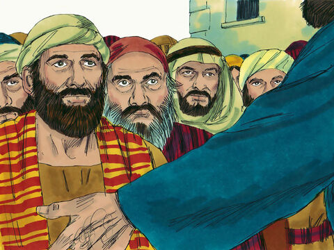 The disciples then went out in pairs to the nearby towns and villages, preaching that people needed to repent. – Slide 21