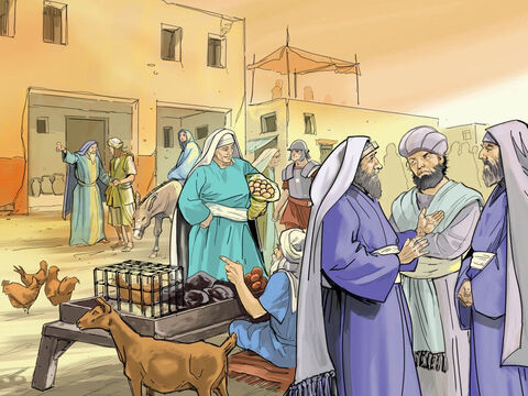 As Mary and Joseph were descendants from the family tree of King David they needed to travel to the town of Bethlehem. The town was full of noise, of people, of animals, all trying to find somewhere to rest. – Slide 2