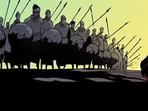 Joshua and the Israelite army set off and marched through the night. – Slide 4
